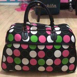 Handbags - Polk a dot carry on
